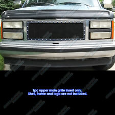Fits 1988-1993 GMC C/K/Sierra/Suburban Stainless Black Rivet Mesh Grille Insert