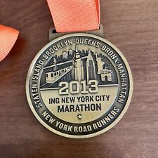 ING New York City Marathon 2013 Finishers Medal Not Engraved NYC NYRR 26.2 HUGE