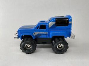 Vintage 1980s Schaper Stomper Chevy Stepside w/ Winch Chassis - Blue 4x4 - VHTF