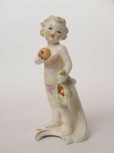 Goebel 12 029-12 Monatsfigur September Junge mit Äpfel Figur Porzellan 1978