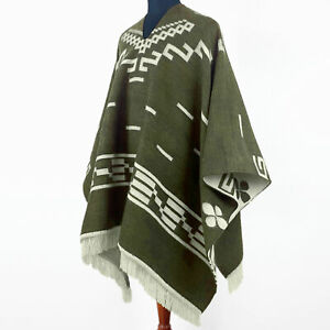 Clint Eastwood Western Cowboy Poncho Serape replica handmade Alpaca wool olive