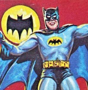 VINTAGE ORIGINAL A & BC BATMAN BLACK BATS BUBBLE GUM TRADING CARD #1 EXC!!!