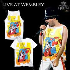 Freddie Mercury Queen Tshirt Tanktop Betty Boop Live at Wembley 1986 Magic Tour