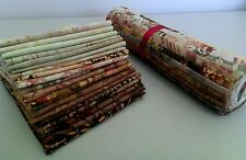 "Batik Fabric - 40 - 10 "" Squares - Layer Cake - Earthy - Free AU Post"