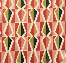 vtg fabric 50s 60s Young Liberty Lucienne Day Heals Atomic era retro mid-century