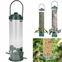 Green Hanging Wild Birds Feeder Seed Containers Hanger Garden Outdoor Feeding