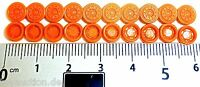 50 X Jantes Orange 6mm Diamètre PLASTIQUE Charge Herpa Albedo 1:87 R181 Å