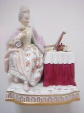 MEISSEN PORCELAIN FIGURE FROM THE FIVE SENSES EMBLEMATIC OF SIGHT - BEAUTIFUL!
