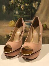 Women's Aldo High Heels, Size 37 Or 6.5, Light Pink, Open Toed, Platform