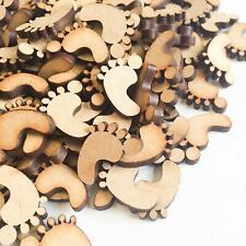 50pcs Wooden Baby Feet - MDF - Embellishment Decoration Craft Blank