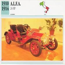 1910-1914 ALFA / A.L.F.A. 24 HP Classic Car Photograph / Information Maxi Card