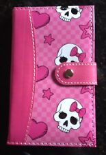 Pretty in Pink and White Skull & Bows Girls Journal with Pen Perfect Purse Size