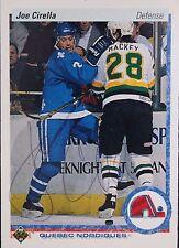 Joe Cirella Nordiques Autographed 1990 Upper Deck #293 B Hockey Card JSA 16H
