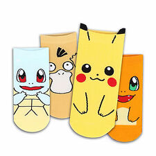 CHOICE !! FAVORITE POKEMON SOCKS (4-PACK) Pikachu Squirtle Charmander Psyduck