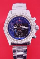 Breitling Super Avenger II (two) Watch with 2.50 CT Diamond Bezel A13371 ASAAR