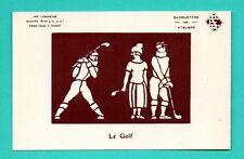 phosphorus card glow in the dark golfing golf VINTAGE POSTCARD 144
