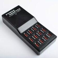12-Port 5V 22A USB Fast Charging Power Station Charger for Smartphones & Tablets