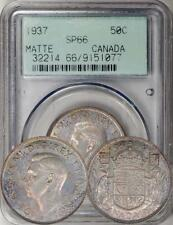 1937 Canada 50 Cents MATTE PROOF SPECIMEN PCGS SP-66. Scarce & Toned. Early Slab