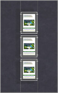 A3 LED Single Sided Pockets - Portrait 1x3 Display