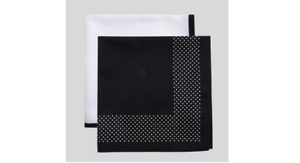 Men's Misi Dots Pocket Square Set - Goodfellow & Co - Black/White One Size  NEW