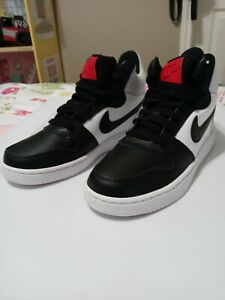 Womens Nike Court Borough Mid size 6 Black Red White 844906-100 Blazer Jordan