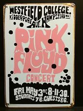 PINK FLOYD WESTFIELD  Vintage & Retro SMALL Metal Sign Concert Poster 20X30 Cm