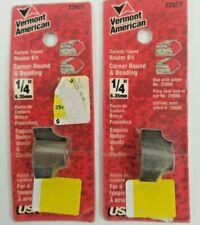 "Vermont American 22627 Carbide Tip 1/4"" Corner Round & Beading (Set of 2)"