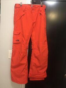 Women's SZ Medium The North Face Orange Ski / Snowboard Pants. Hyvent