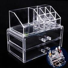 Cosmetics Organizer Makeup Acrylic Drawers Display Box Storage Tabletop Stand