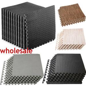 "Fitness Multipurpose Interlocking Foam Floor Mat Exercise EVA Tiles 3/8"" 6-120Pc"
