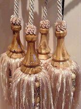 Pair of double headed Curtain Tie Backs Each Tassel Has 4 Smaller Tassels Bead