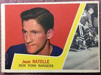 1963-64 TOPPS HOCKEY #63 JEAN RATELLE ~ **EX+/NM** ~ NY RANGERS
