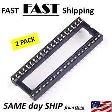 2pcs -- 40 pin IC DIP socket base - solder type bottom - snap in top