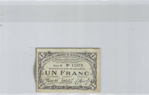 Area of Cambrai 1 Franc 10 May 1916 Series H N° 17072