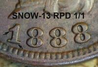 1888 Indian Head Cent - XF DETAILS, REPUNCHED DATE, Cleaned (M066)