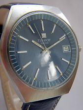 1972 Tissot tissonic Cal 2010, dkl. Baues Ziffernblatt, Stimmgabel Uhr