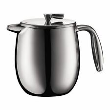 Bodum Columbia Double Wall 4 Cup Stainless Steel French Press Coffee Maker -0.5L