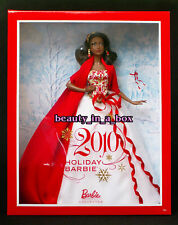 2010 Holiday Barbie Doll African American AA Christmas Celebration