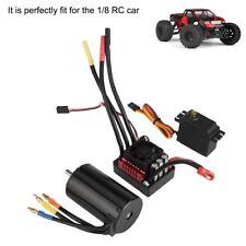 For 1/8RC Car surpass 4068 2050KV Brushless Motor w/120A ESC 9kg Servo Combo Set