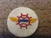 """1969 VINTAGE SEATTLE PILOTS LOGO PATCH 2"""" CIRCLES  OLD STORE STOCK"""