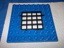 Lego Duplo Polizei Bauplatte Platte Blau 8 X 8er Noppen + Gitter aus 5681