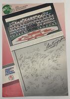 Vintage 1989 Saskatchewan RoughRiders 13X19 CFL Football Priority Post Poster