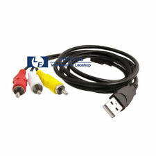 New 5ft USB Male A to 3 RCA AV  TV Adapter Cord Cable  red yellow White