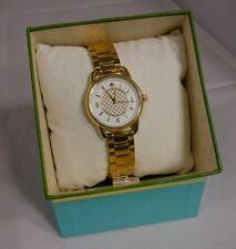 NEW NIB Kate Spade KSW1166 Watch Boathouse Gold Women's Bracelet Watch Goldtone