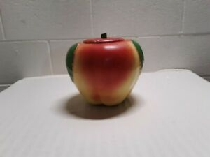Vintage McCoy Cookie Jar  Blushing Apple Yellow and Red