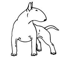 2 Aufkleber bullterrier dog Auto Sticker Decal 14 cm Tuning JDM Hund carton