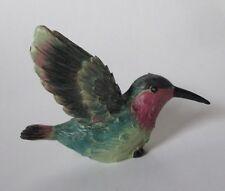 z Green rose throat HUMMINGBIRD FIGURINE Ganz bird polystone