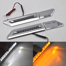 2 White/Amber Switchback LED Light Side Marker For 14-18 nissan navara D23 NP300