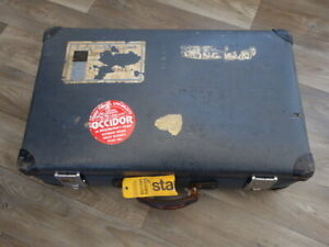 Vintage Globe- trotter Suitcase, Original Labels, Great Display Piece