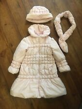 Dani Designer Coat Hat Scarf Set Age 4 Years Pink Diamante BNWOT